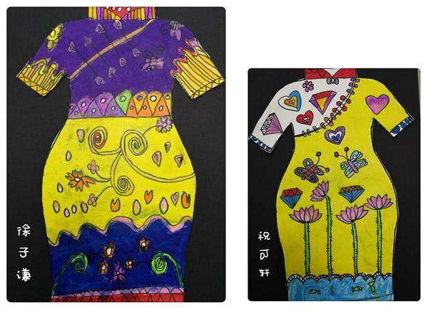 我们是旗袍设计师!_学生作品_作品中心_昆山书画院部图片
